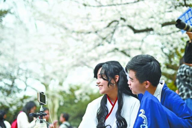 解锁赏樱新方式 武汉首次用5G直播武大樱花那个美