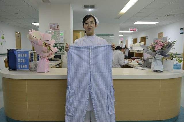 """暖心护士改良式病员裤 解决""""提着尿袋走路""""尴尬"""