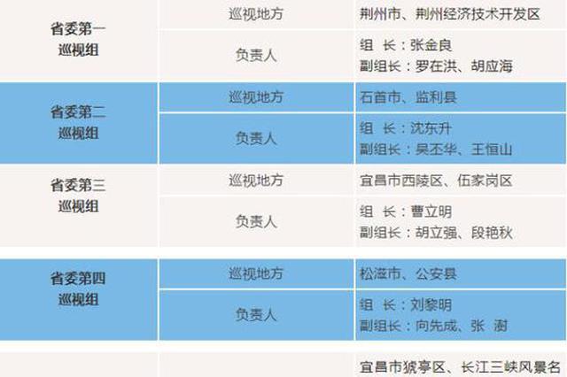 湖北省委第四轮巡视启动 将集中巡视这些地方