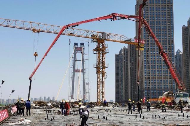 杨泗港长江大桥汉阳侧引桥结构贯通 将于9月底通车