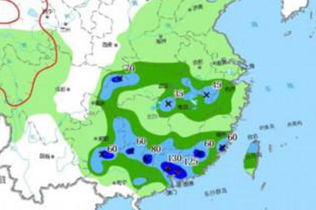 中央气象台发布暴雨蓝色预警 湖北等地有大雨或暴雨
