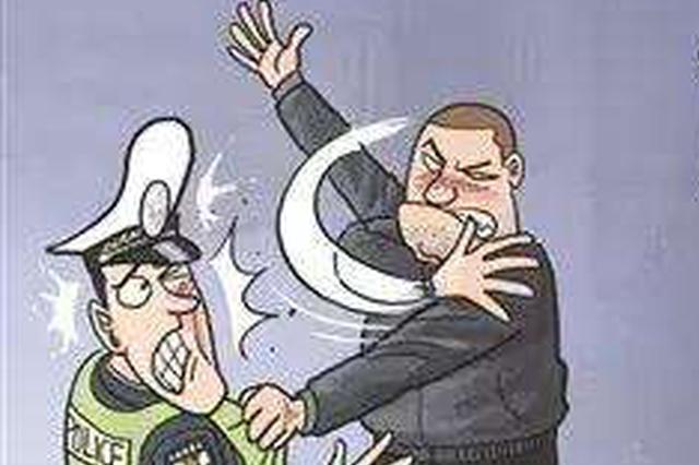 襄阳一男子暴力袭警 竟打断民警一门牙