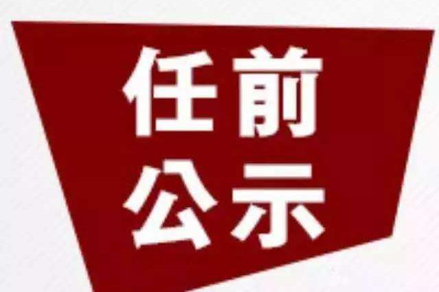荆州市3名干部任前公示公告