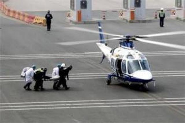 武汉首次开展军运会直升机空中救援应急演练
