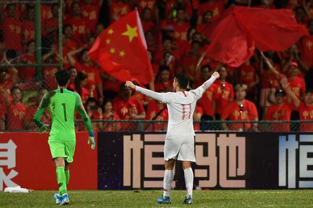 中国男足客场5-0完胜马尔代夫 收获世预赛开门红