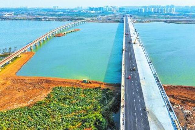 跨海子湖特大桥将通车 荆州站到园博园仅需10分钟