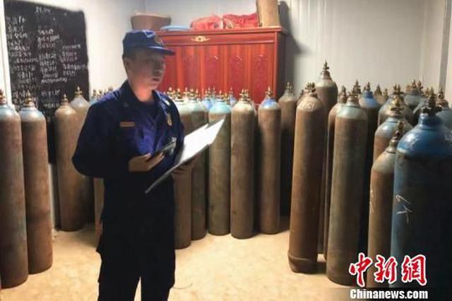 湖北一厂房非法储存30余瓶危险品 当事人被行拘