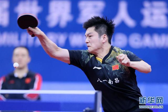 军运会乒乓球男团中国队3:0战胜朝鲜队挺进半决赛
