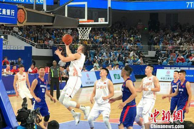 中国八一男篮军运会首战大胜蒙古国男篮