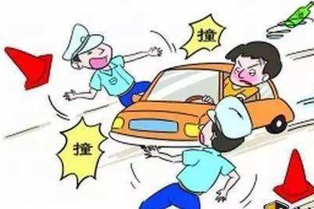 车辆未年检 蕲春男子拖行民警600米被拘