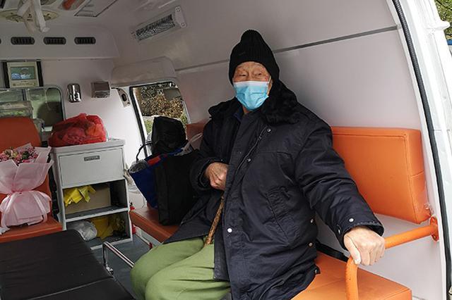 """湖北省年龄最大的治愈患者出院 91岁老兵""""抗疫""""胜利"""