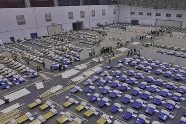 """武汉方舱医院空余床位5600张 实现了""""床等人"""""""
