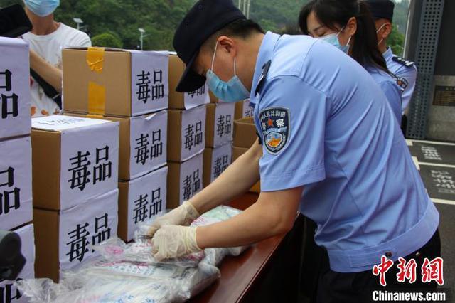 湖北宜昌警方公开销毁毒品272公斤