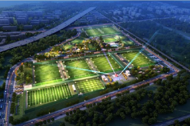武汉光谷足球体育公园计划年底建成 含14块足球场地