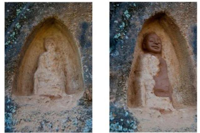 青年艺术家修复石窟造像引争议 官方正在调查(图)