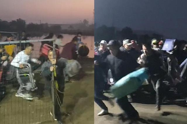 武汉一渔场凌晨上百人排队抢钓位