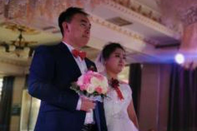 驰援武汉的吉林女护士完婚:蜜月地点选在武汉(图)