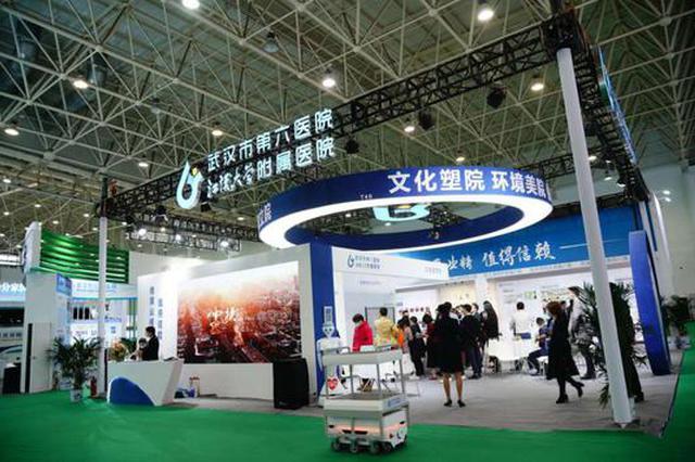 武汉市第六医院智慧医院空降健博会展区