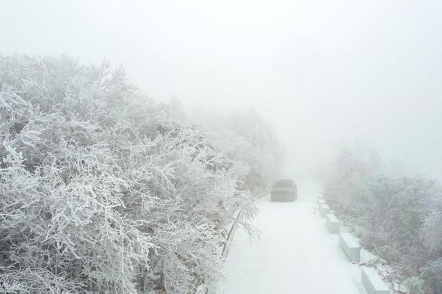 美不胜收!湖北保康一景区雪后出现雾凇景观(图)