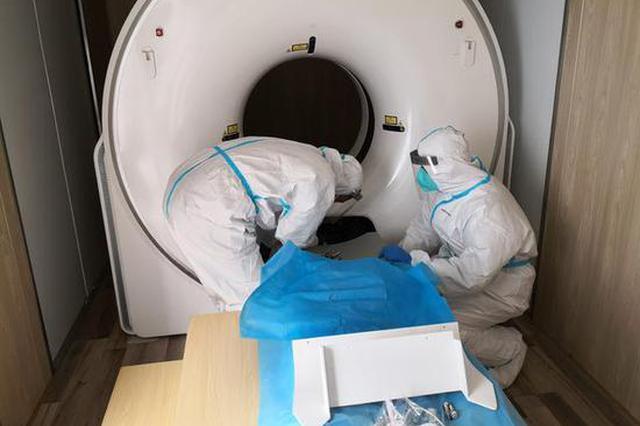湖北援冀移动方舱CT已就位 即将接诊发热人员