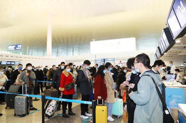 春运末期天河机场现客流高峰 单日突破7万人次