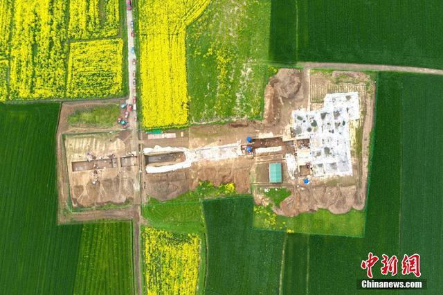 湖北襄阳:凤凰咀遗址考古发掘现场