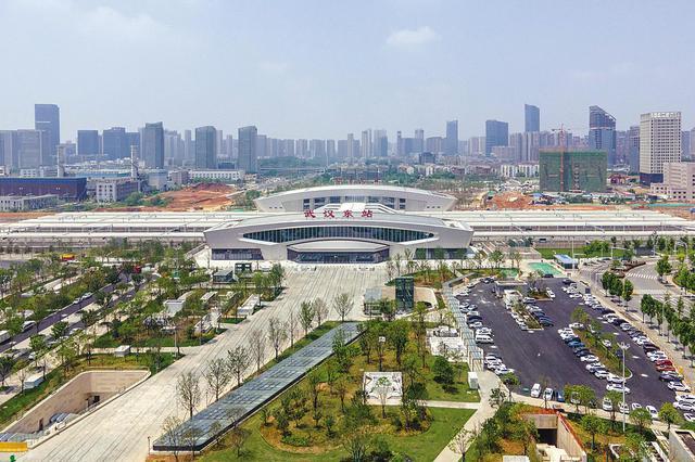 武汉东站建设收尾