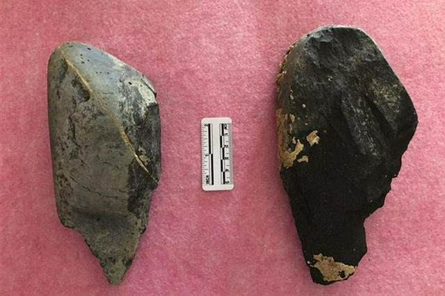 郧县人老家发现古人类石器加工场 出土2件重型工具