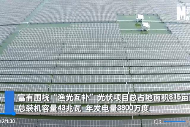 水上发电水下养鱼 湖北咸宁大力发展清洁能源