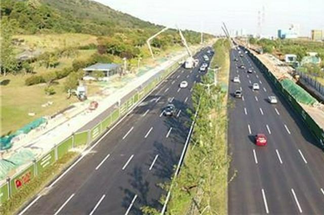 """高新大道改造工程主线双向八车道将于""""十一""""通车"""