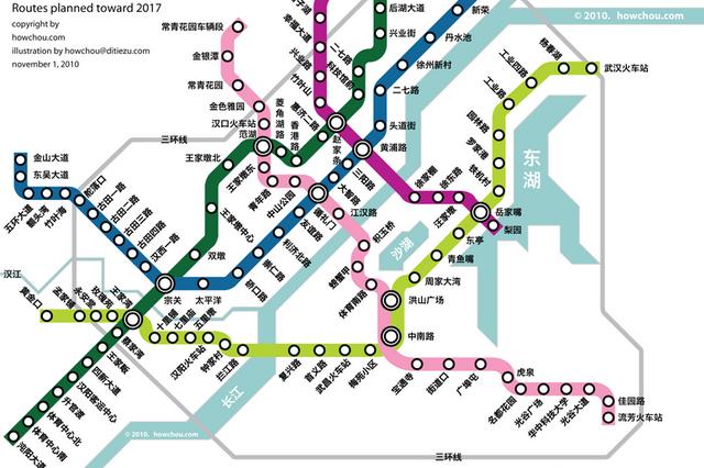 武汉这个片区已规划3条地铁线