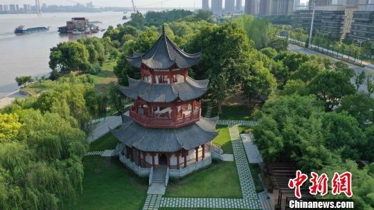 观江楼全貌 武汉市水务局供图 摄