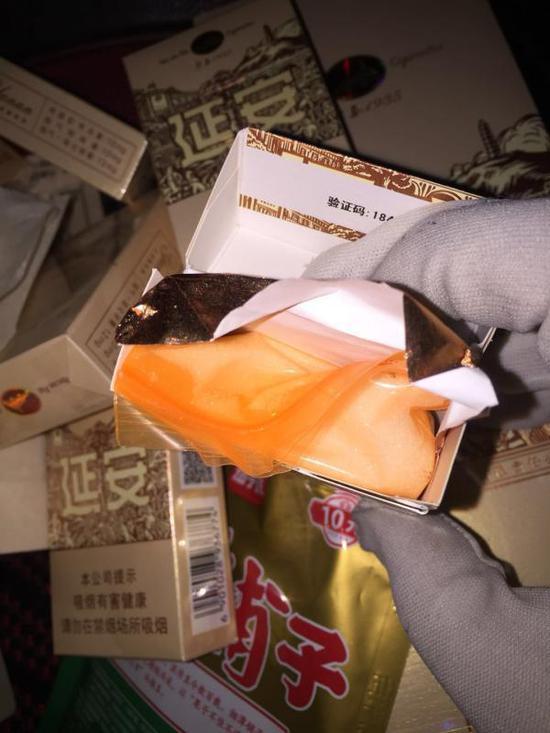 藏在烟盒里的毒品 警方供图