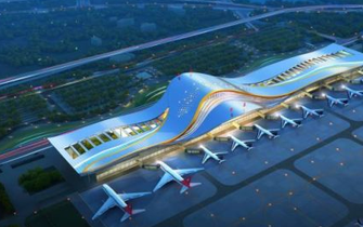 三峡机场T2航站楼开建