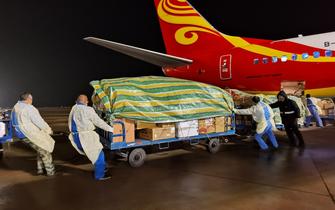 三峡机场全力保障海南航空医疗包机运输任务
