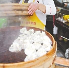 汉口三眼桥北路的张记烧麦 长江日报记者詹松 摄