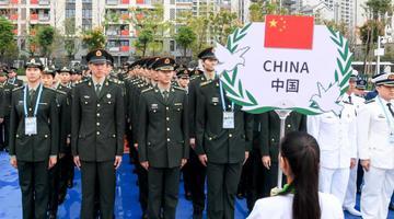 中国代表团入住武汉军运会运动员村