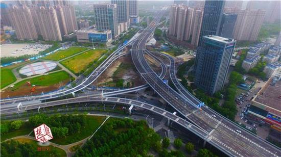 常青高架范湖立交  中建三局基础设施公司供图