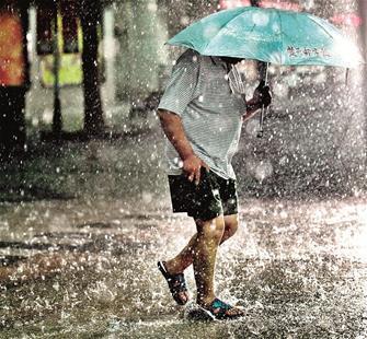 图为:昨日上午暴雨再袭江城 楚天都市报记者邹斌摄于水果湖