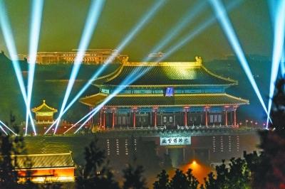 2月19日晚拍摄的故宫