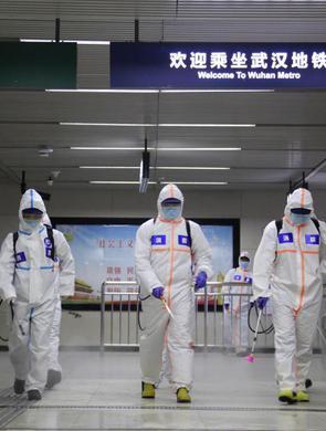 武汉地铁6条运营线路全面消杀