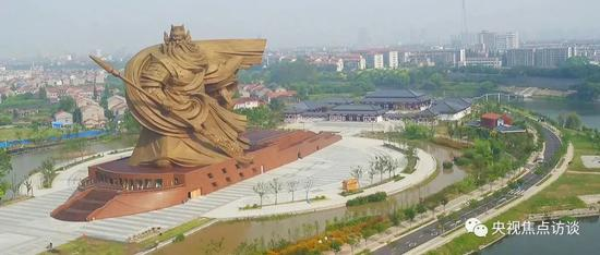 """未获审批便开工建设 荆州巨型""""关公雕像""""被点名"""