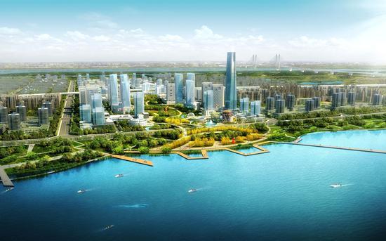 武汉国家航天产业基地核心区效果图。