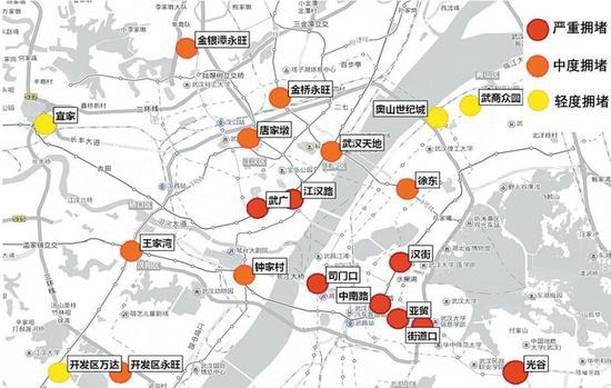 """""""五一""""期间,市内主要商圈拥堵预测(市交管部门供稿)"""