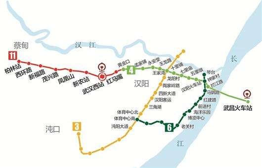 地铁蔡甸线规划图