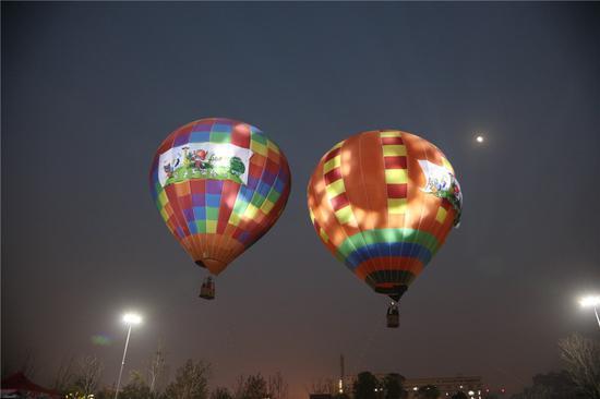 热气球空中俯瞰