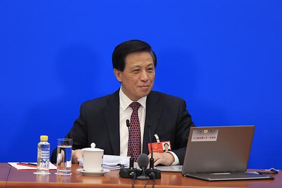 全国人大新任发言人张业遂。澎湃新闻记者 赵昀 图