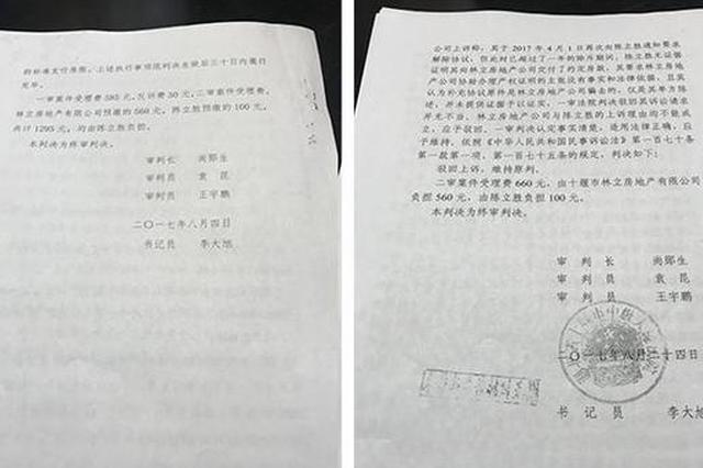 十堰一案件两份判决书结果相反 审判长:失误上传