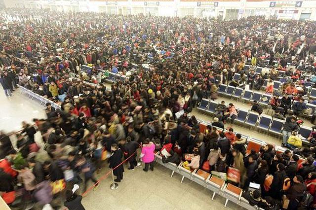 铁路迎节前客流高峰 武汉位居全国十大到达城市之首
