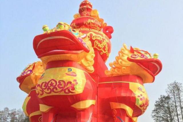 高22.5米重15吨!巨型四面狮灯将霸气亮相东湖灯会